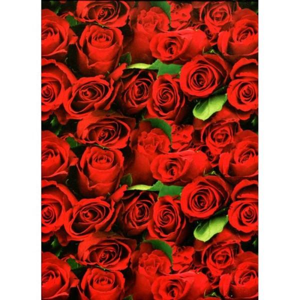 Roses rouges, papier italien - Photo n°1