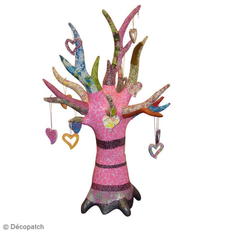 arbre d co porte bijoux en papier m ch 13 cm porte bijoux d corer creavea. Black Bedroom Furniture Sets. Home Design Ideas