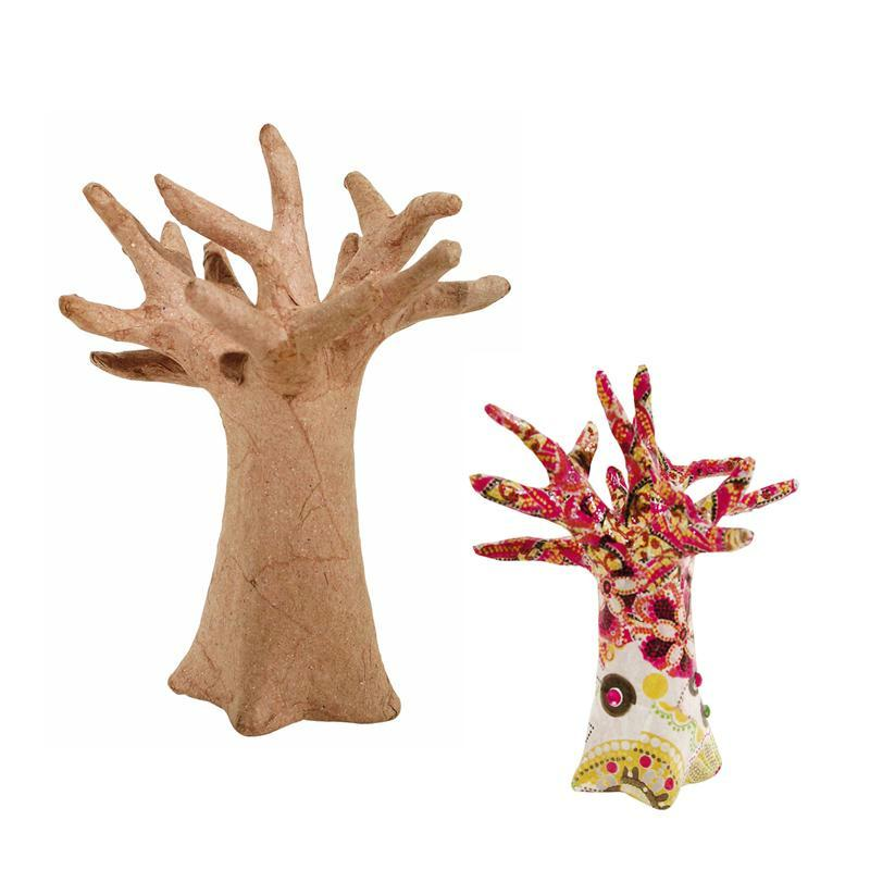 arbre d co porte bijoux en papier m ch 13 cm porte. Black Bedroom Furniture Sets. Home Design Ideas