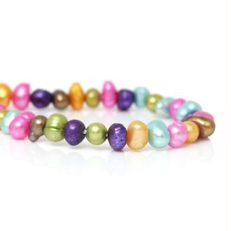 20 Perles De Culture D'Eau Teintées Forme Irrégulière Couleurs Mixtes - Sc63113