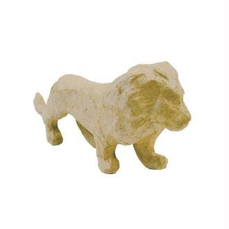Lion en papier mâché 15 cm