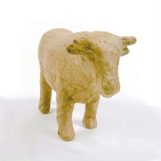 Vache en papier mâché 13 cm
