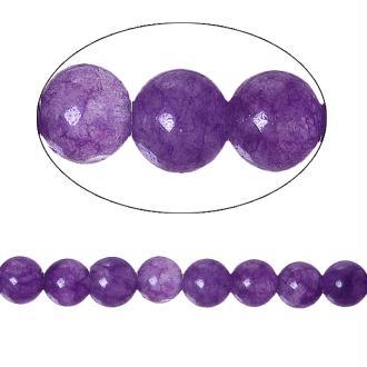 60 Perles Agate Ronde Violet 6Mm -Sc74492-