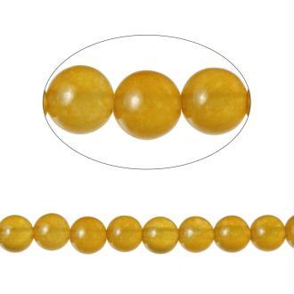 90 Perles Agate Ronde Jaune 4Mm -Sc71589-
