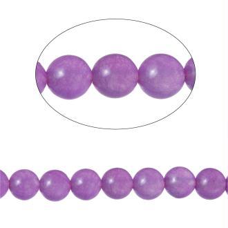 90 Perles Agate Ronde Mauve 4Mm -Sc71588-