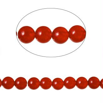 90 Perles Agate Ronde Rouge 4Mm -Sc71585-