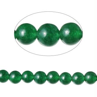 90 Perles Agate Ronde Vert 4Mm -Sc71593-