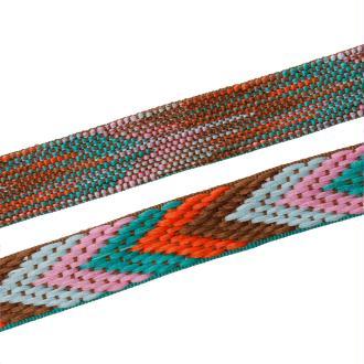 90Cm De Ruban Polyester Rayé Multicolore 22Mm-Sc68505-