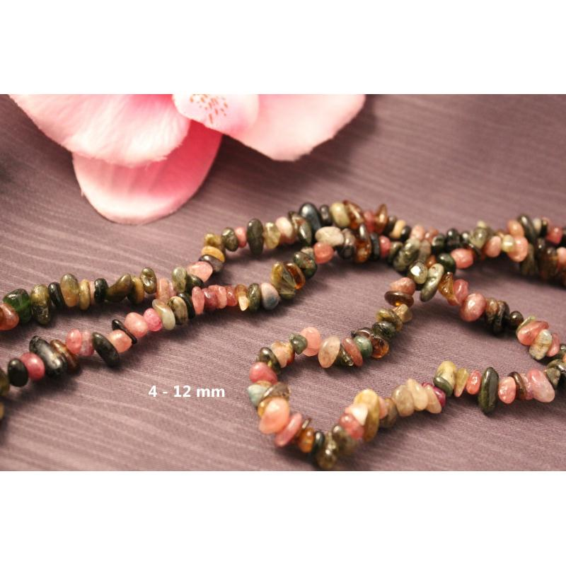 Environ 300 Perles Naturelles Tourmaline 4-12Mm -Sq00106- - Photo n°1