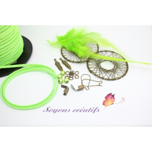 gamme complète d'articles le moins cher boutique pour officiel Kit Complet Boucles D'Oreilles Attrape Rêves Bronze Vert ...