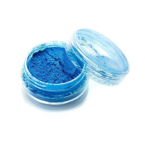 Poudre De Paillette Bleu Pour Inclusion Résine Création Bijoux