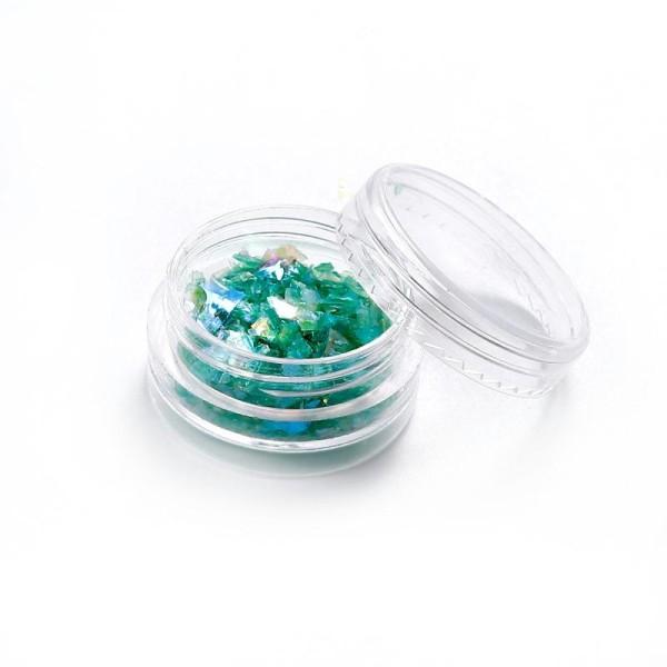 Poudre De Paillette En Papier Coquillage Vert Pour Inclusion Résine