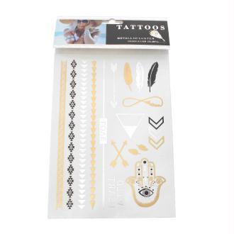 Tatouage Temporaire Imperméable Métallisé 21X15Cm - Stickers Scrapbooking-