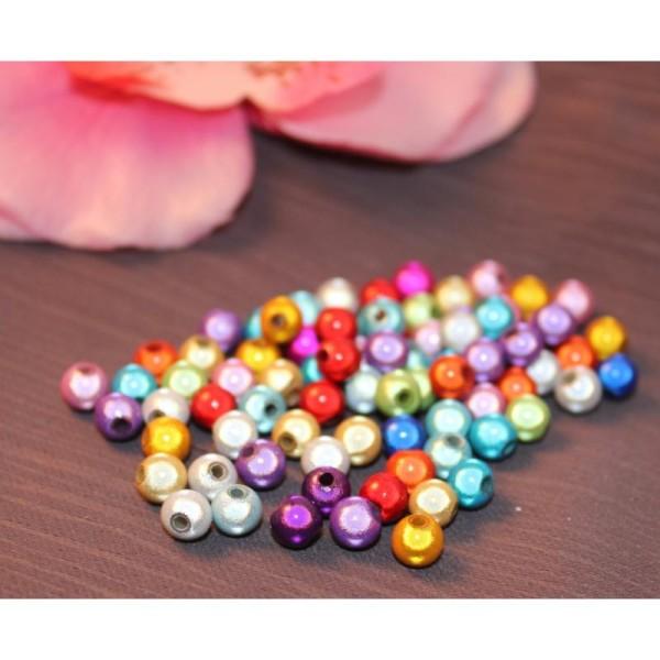 50 Perles Magiques  6 Mm Couleur Mixte - Photo n°1