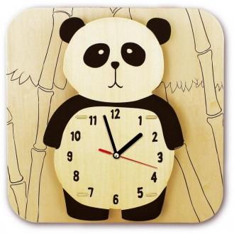 Horloge Panda en bois Kit à monter et à peindre.