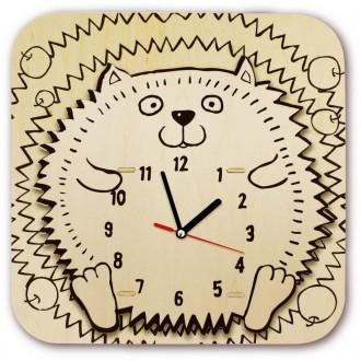 Horloge Hérisson en bois , Kit en bois à monter.