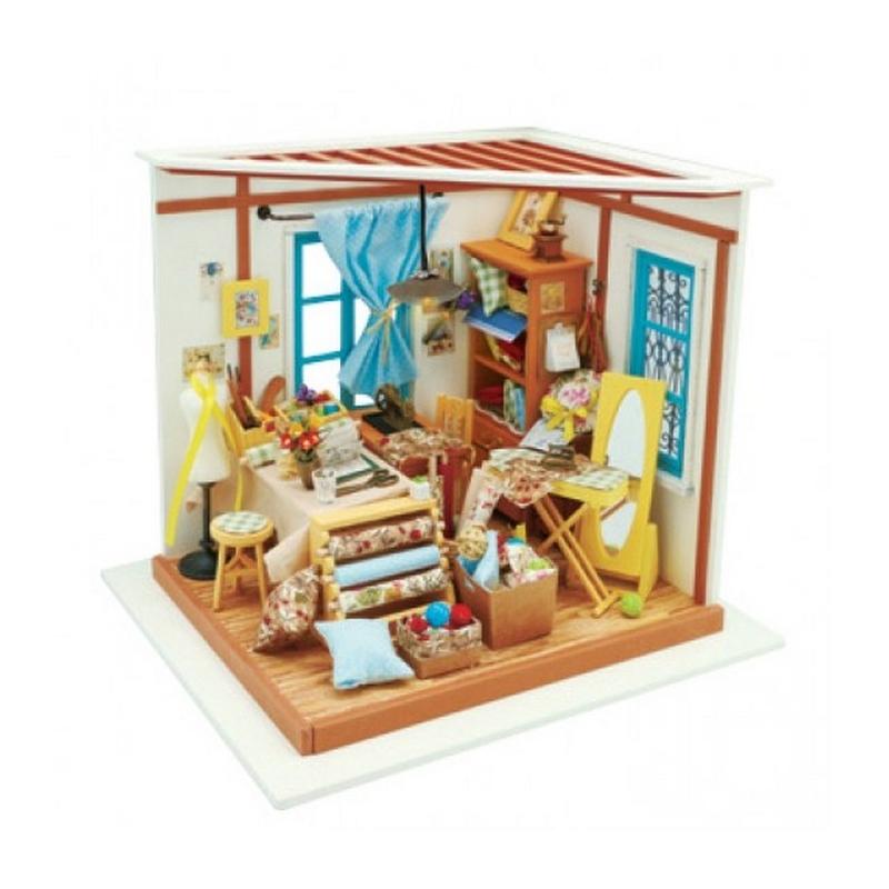 pi ce de couture lisa avec lumi re kit en bois monter kit maquettes bois et cartons creavea. Black Bedroom Furniture Sets. Home Design Ideas