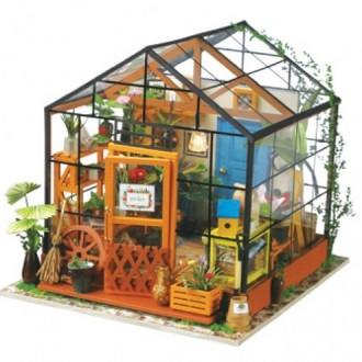Maison des Fleurs Cathy avec lumière - kit en bois à monter