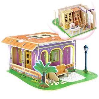Maison à monter avec détail du studio Kit en bois à monter