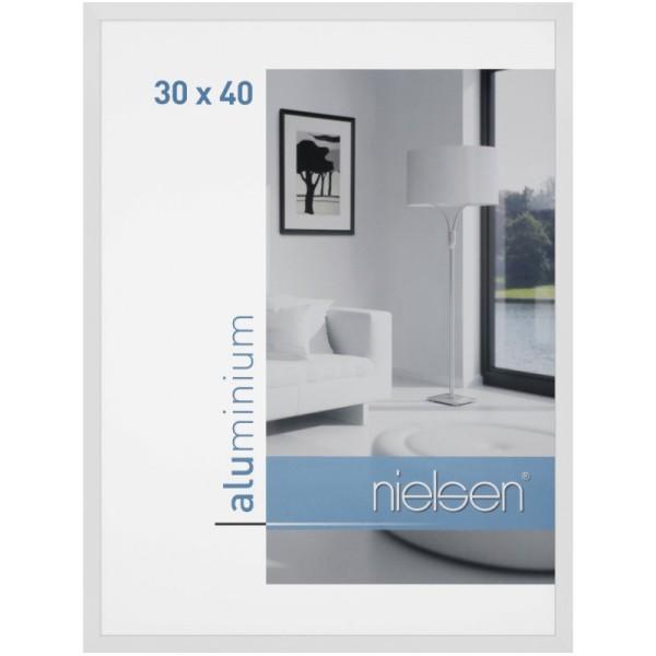 Cadre alu 30x30 blanc brillant nielsen c2 - Photo n°1