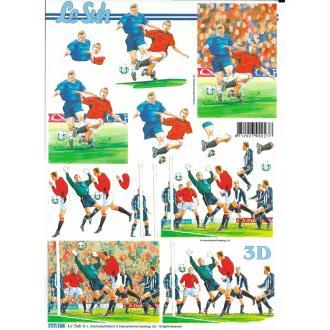 Feuille 3D à découper A4 Sport Football