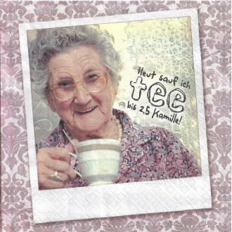 4 Serviettes en papier Grand-mère Mamie Oma's Tipps Format Lunch