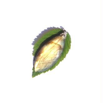 Labradorite : Pendentif fait main 6,7 CM de hauteur x 2,6 CM de largeur max