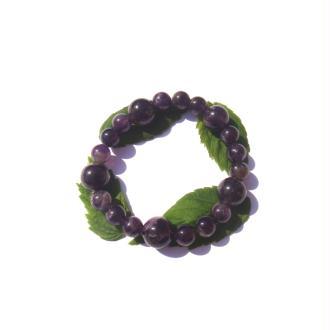 Bracelet Améthyste Africaine sur fil élastique 18,5 CM à 21 CM de tour de poignet