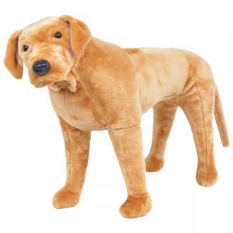 vidaXL Jouet en peluche Chien de race Labrador marron clair XXL