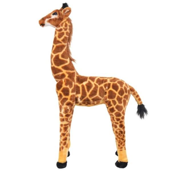 Vidaxl Jouet En Peluche Girafe Marron Et Jaune Xxl - Photo n°2