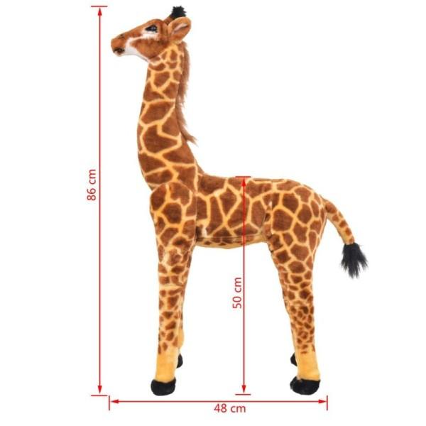 Vidaxl Jouet En Peluche Girafe Marron Et Jaune Xxl - Photo n°4