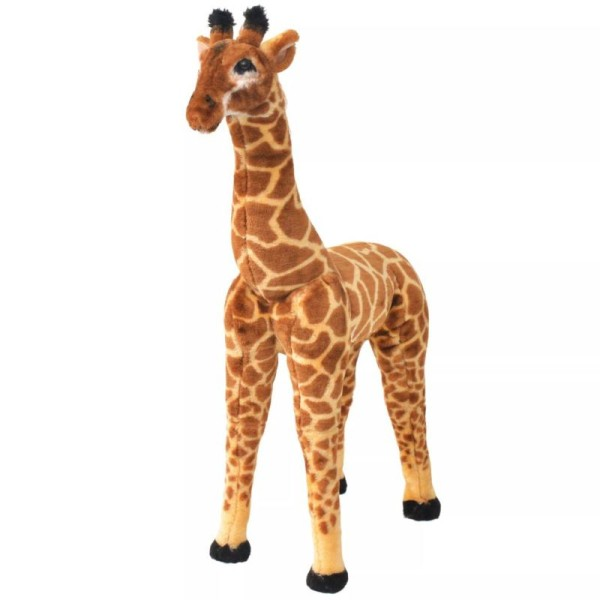 Vidaxl Jouet En Peluche Girafe Marron Et Jaune Xxl - Photo n°1