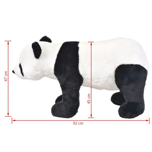 Vidaxl Jouet En Peluche Panda Noir Et Blanc Xxl - Photo n°4