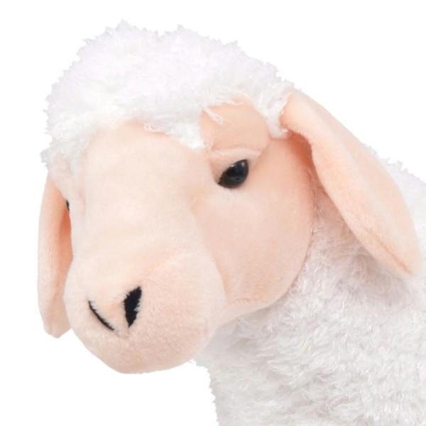 Vidaxl Jouet En Peluche Mouton Blanc Xxl - Photo n°3