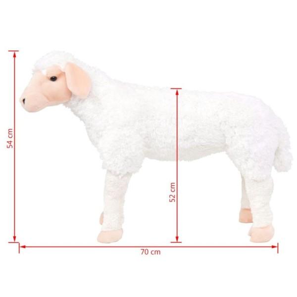 Vidaxl Jouet En Peluche Mouton Blanc Xxl - Photo n°4