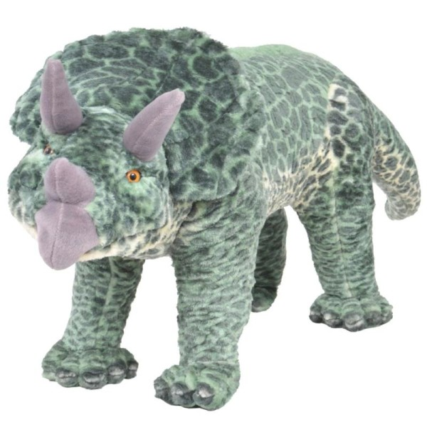Vert Peluche Vidaxl En Xxl Jouet Dinosaure Tricératops NnOPm0wvy8