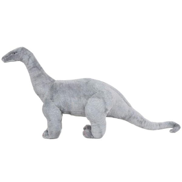Vidaxl Jouet En Peluche Dinosaure Brachiosaurus Gris Xxl - Photo n°2
