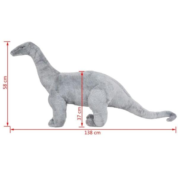 Vidaxl Jouet En Peluche Dinosaure Brachiosaurus Gris Xxl - Photo n°4