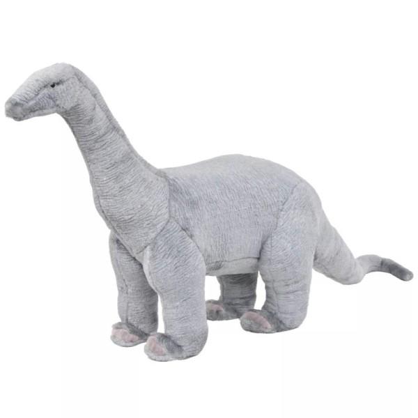 Vidaxl Jouet En Peluche Dinosaure Brachiosaurus Gris Xxl - Photo n°1