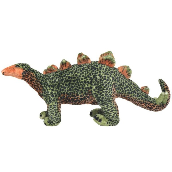 Vidaxl Jouet En Peluche Dinosaure Stegosaurus Vert Et Orange Xxl - Photo n°2