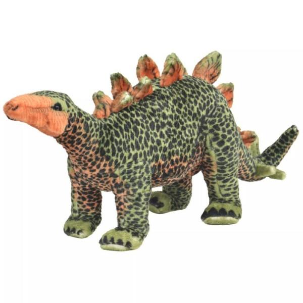 Vidaxl Jouet En Peluche Dinosaure Stegosaurus Vert Et Orange Xxl - Photo n°1