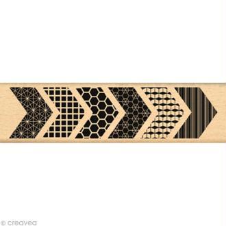 Tampon Logothèque - Grands chevrons - 15 x 4 cm