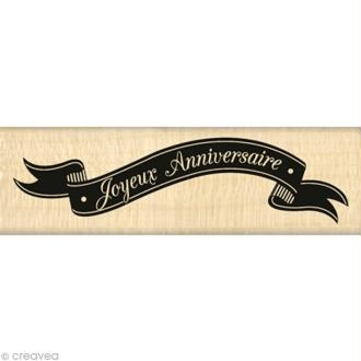 Tampon Chalk spirit - Bannière anniversaire - 10 x 3 cm