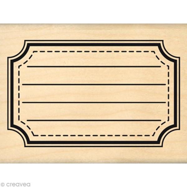 Tampon Instalove - Grande étiquette école - 8 x 6 cm - Photo n°1