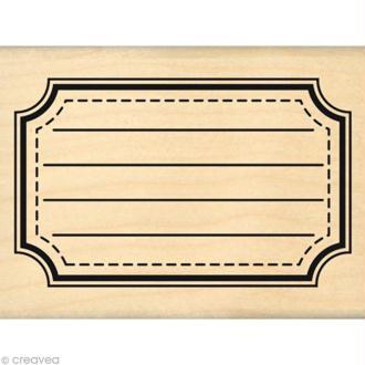 Tampon Instalove - Grande étiquette école - 8 x 6 cm