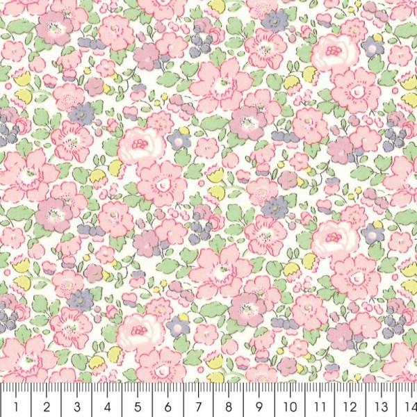 Tissu Liberty Betsy Ann rose - 3257 C - Par 10 cm (sur mesure) - Photo n°2