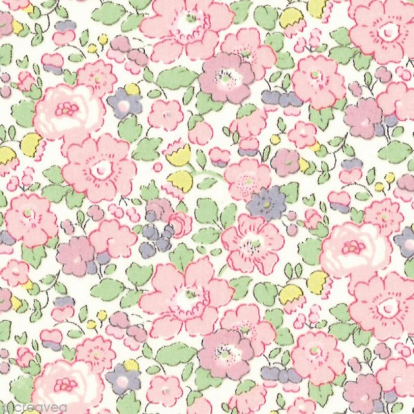 Tissu Liberty Betsy Ann rose - 3257 C - Par 10 cm (sur mesure) - Photo n°1