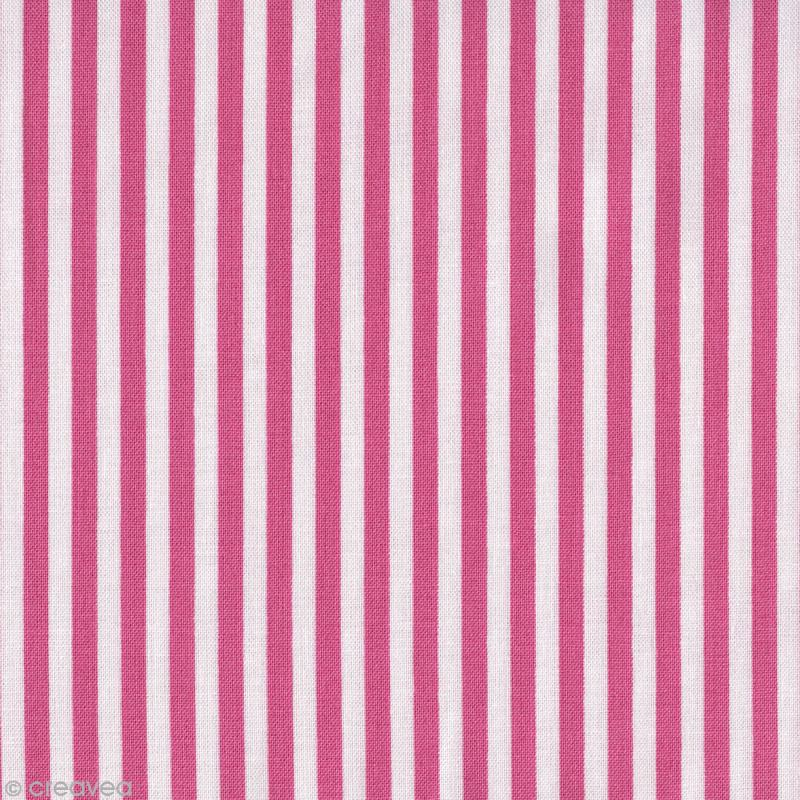 tissu g termann french cottage rayures rose par 10