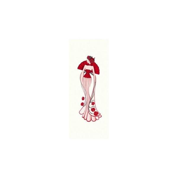 Image 3D - gk2050006 - 20x50 - femme corset rouge - Photo n°1