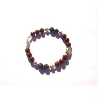 Obsidienne Oeil Céleste : Bracelet élastique 19,5 CM minimum de tour de poignet